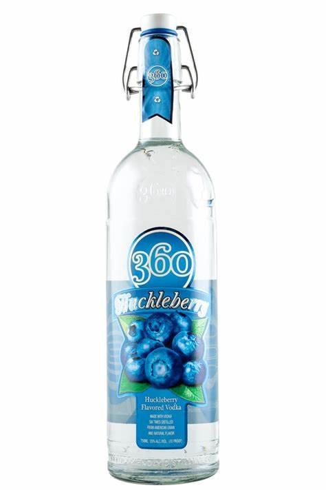 360 Double Huckelberry Flavored Vodka 1L