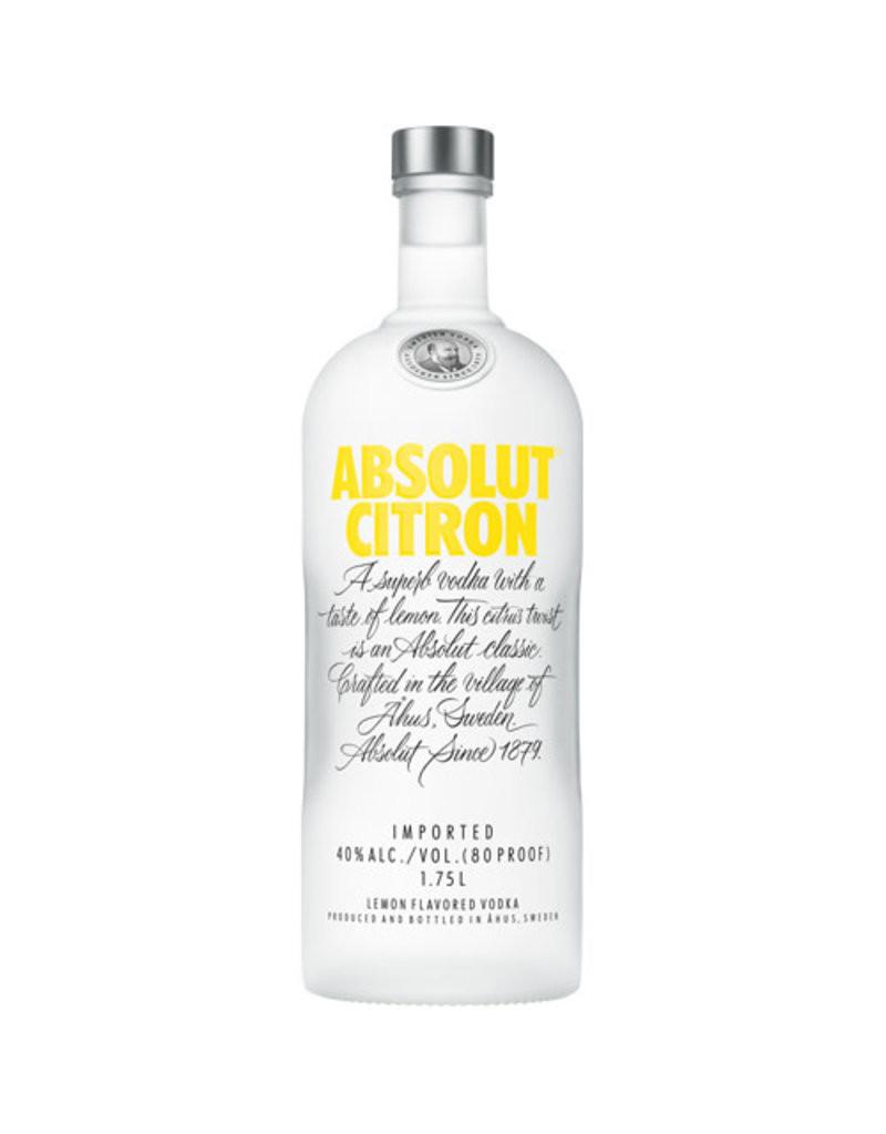 Absolut Citron Flavored Vodka 1L