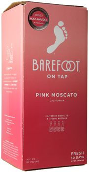 Barefoot Pink Moscato 3 Ltr