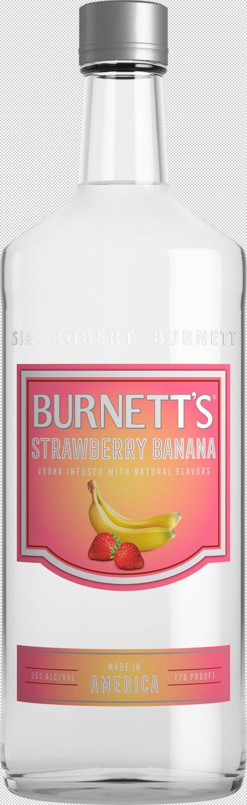 Burnett's Strawberry/Banana Flavored Vodka 1L