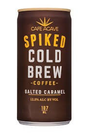 Cafe Agave Spiked Cold Brew Coffee Salted Caramel Shot Can 187ml