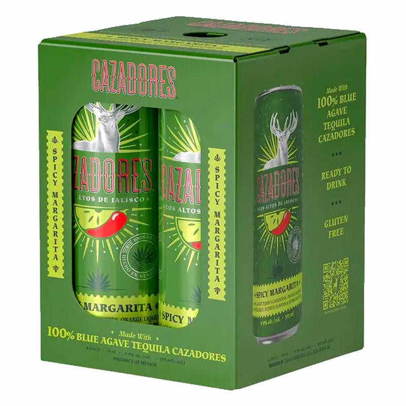 Cazadores Spicy Margarita 4-Pack cans (355ml each)