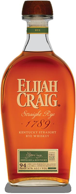 Elijah Craig Straight Rye Whiskey 750ml