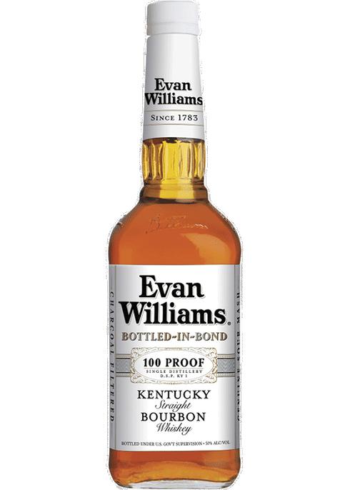 Evan Williams White Label Kentucky Straight Bourbon Bottled In Bond 100Pf 750ml