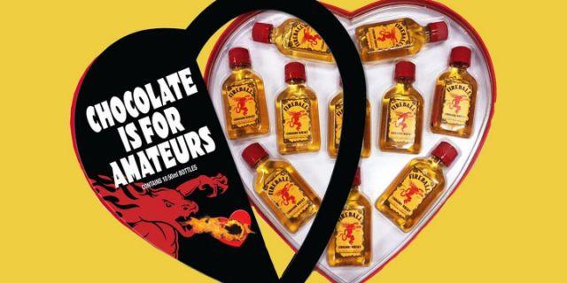Fireball Heart Shaped 10 Pack (50ml each)