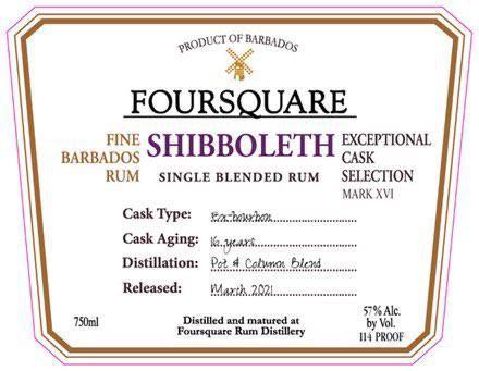 Foursquare Shibboleth 16yr Rum 750Ml
