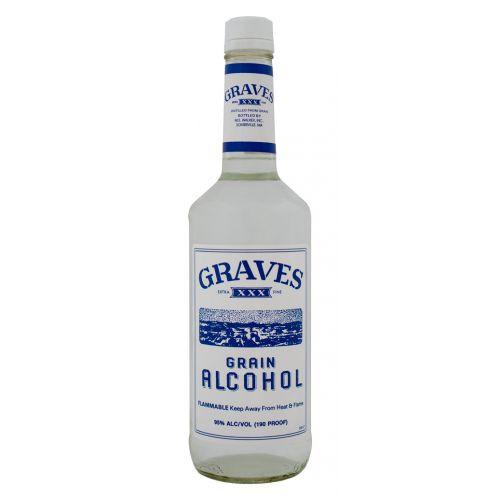 Graves Grain Alcohol 190 Proof 750ml