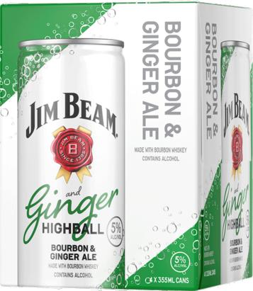 Jim Beam Ginger Highball 4 Pack (355ml ea)