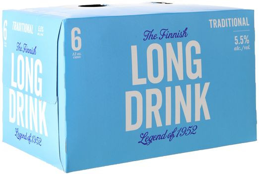 Long Drink Traditional 6 Pack Cans -6/355ml