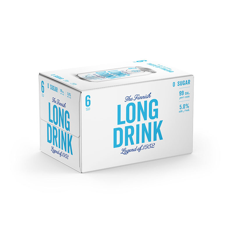 Long Drink Zero Sugar 6 Pack Cans -6/355ml