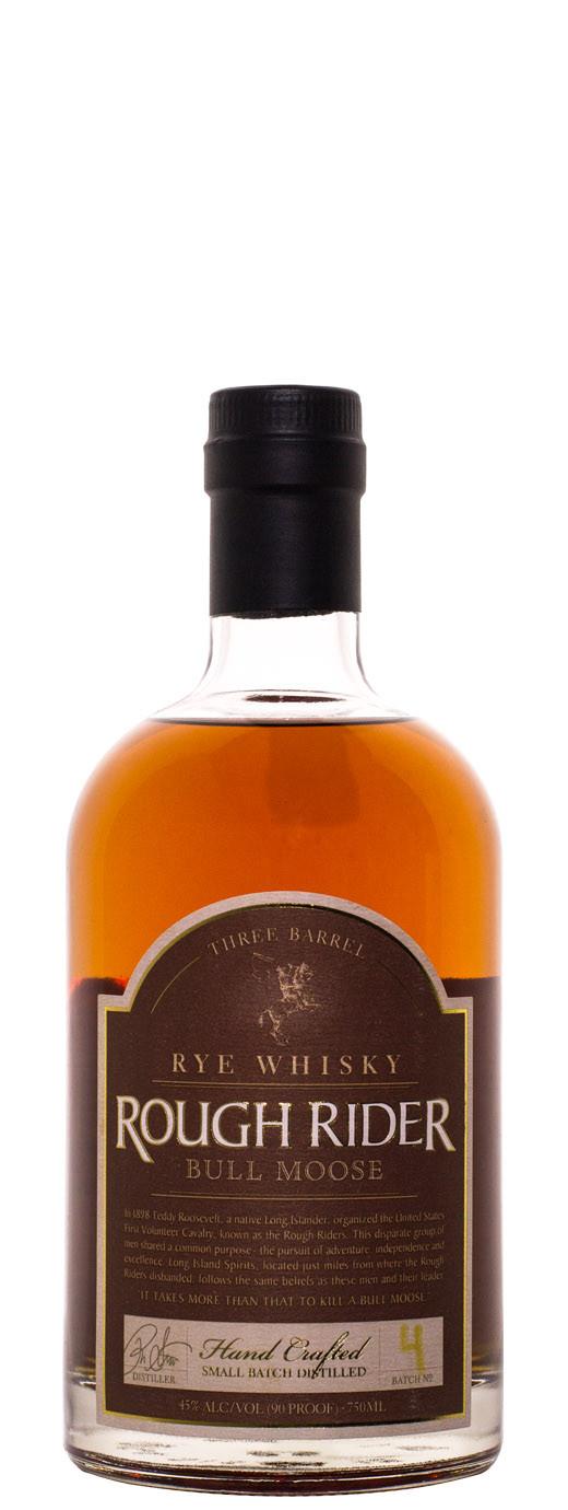 Rough Rider Bull Moose Three Barrel Rye 750ml