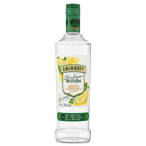 Smirnoff Zero Sugar Lemon/Elderflower Flavored Vodka 750ml