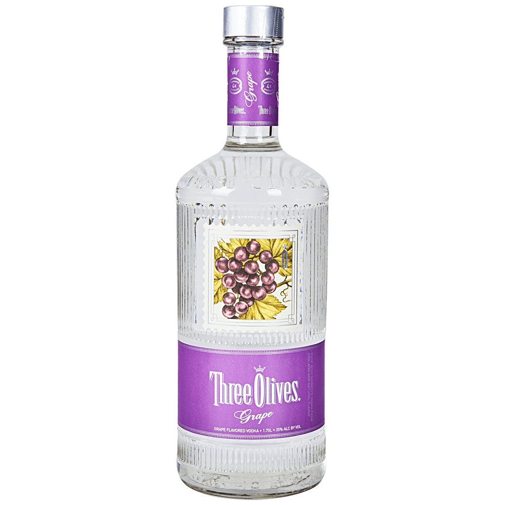 Three Olives Grape Flavored Vodka 1.75 Ltr