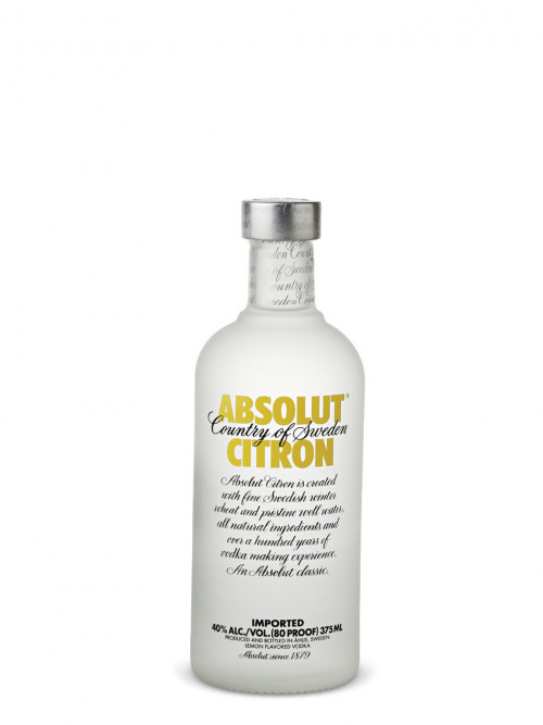 Absolut Citron Flavored Vodka 375