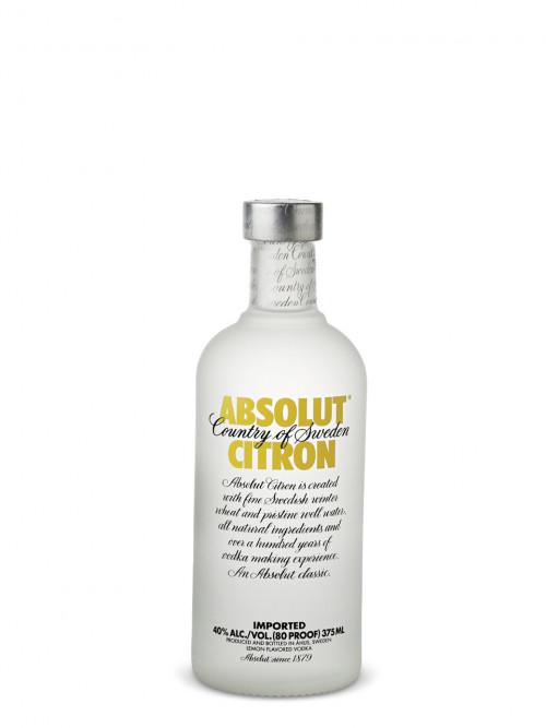 Absolut Citron Flavored Vodka 375