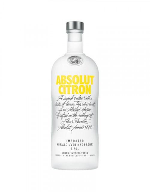 Absolut Citron Flavored Vodka 1L