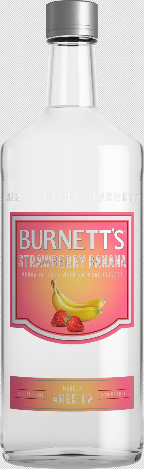 Burnett's Strawberry/Banana Flavored Vodka 1L