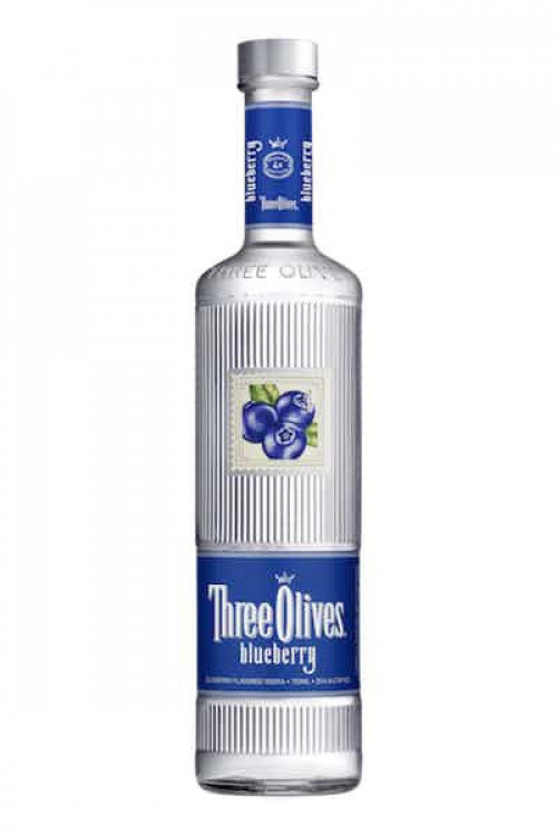 Three Olives Blueberry Flavored Vodka 1L