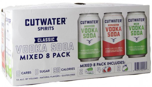 Cutwater Vodka Soda Variety Pack - 8/ 355ml Cans