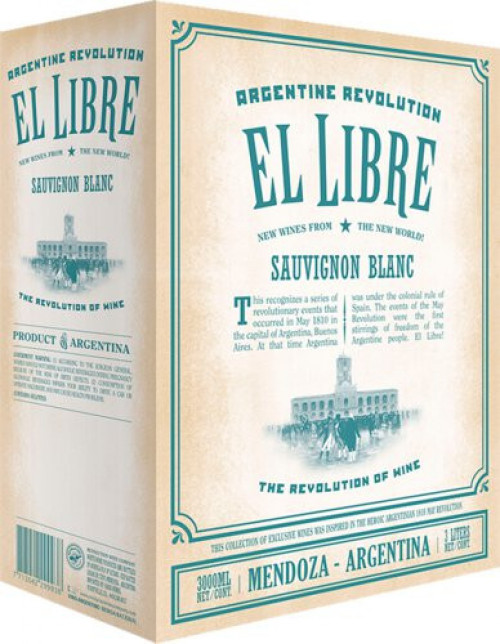 El Libre Sauvignon Blanc 3 Ltr