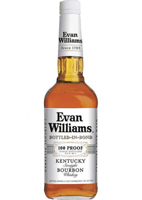 Evan Williams White Label Kentucky Straight Bourbon Bottled In Bond 100Pf 1.75L