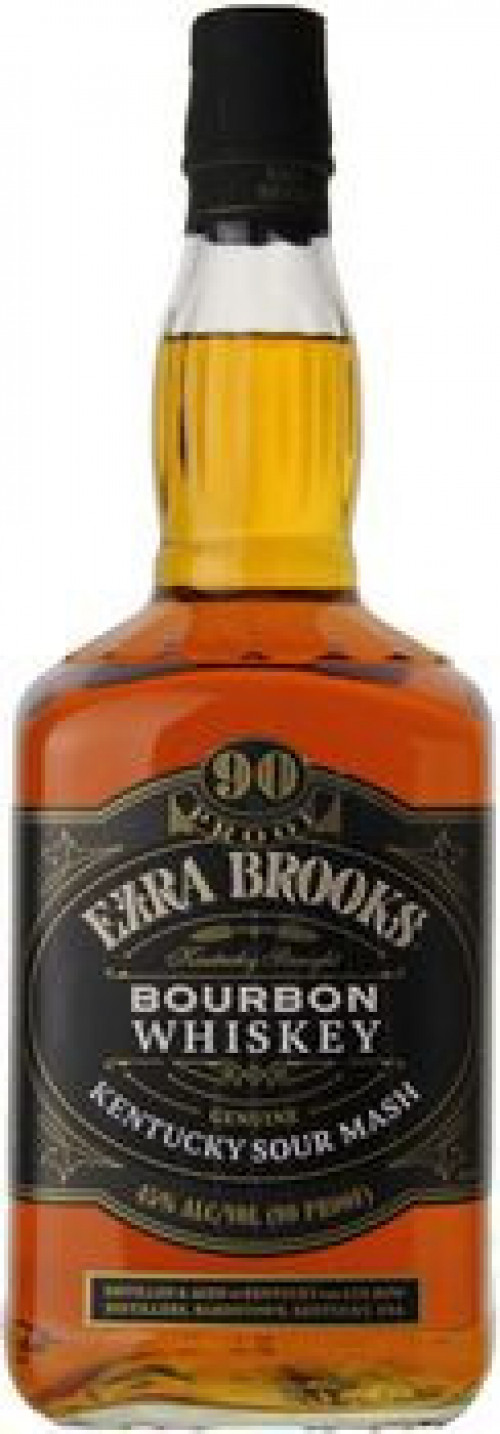 Ezra Brooks Kentucky Straight Bourbon 90 Proof 1.75 Ltr