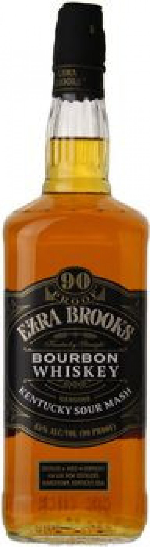Ezra Brooks Kentucky Straight Bourbon 90 Proof 1L