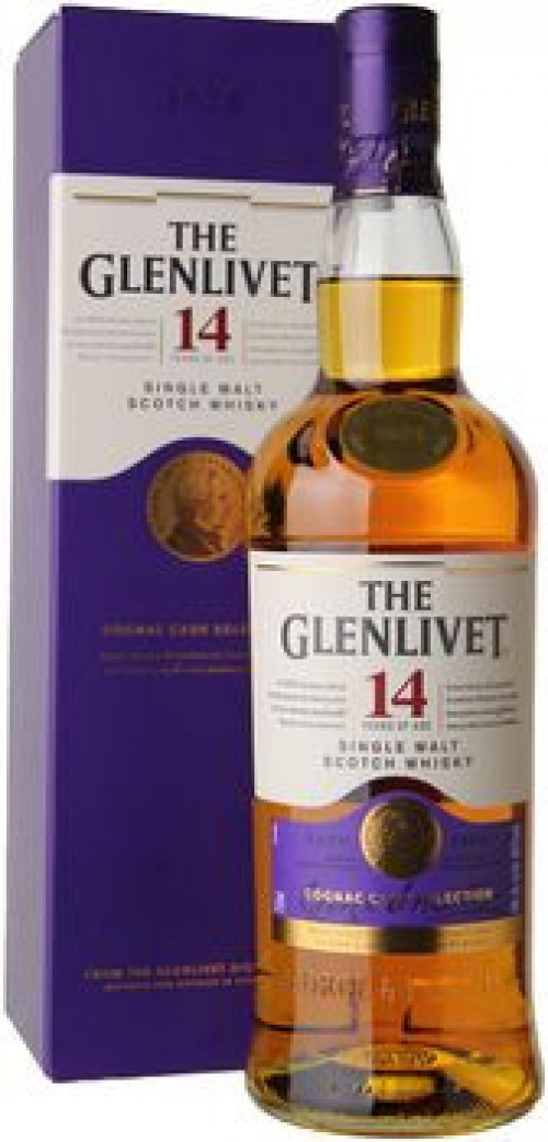 Glenlivet 14yr Cognac Cask Finish Single Malt Scotch 750ml