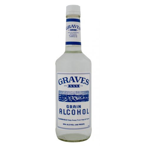 Graves Grain Alcohol 190 Proof 750ml
