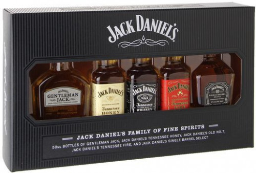 Jack Daniel's Miniatures Variety Pack  5-50ml
