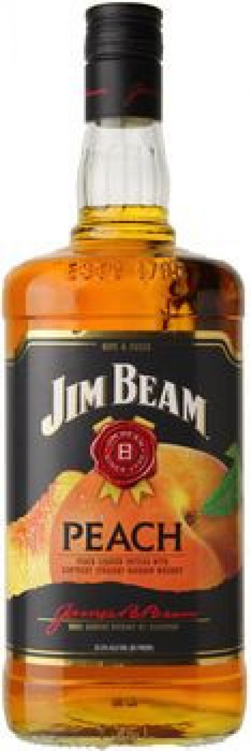 Jim Beam Peach Flavored Kentucky Bourbon 1L