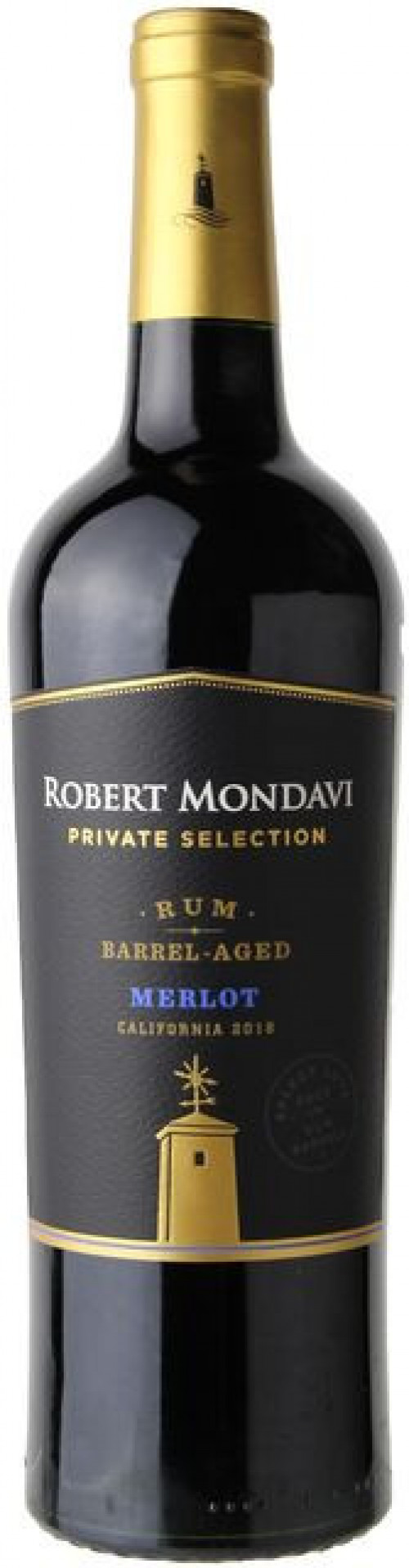 Robert Mondavi Private Selection Rum Barrel Merlot 750ml