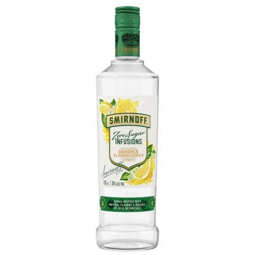 Smirnoff Zero Sugar Lemon/Elderflower Flavored Vodka 750ml