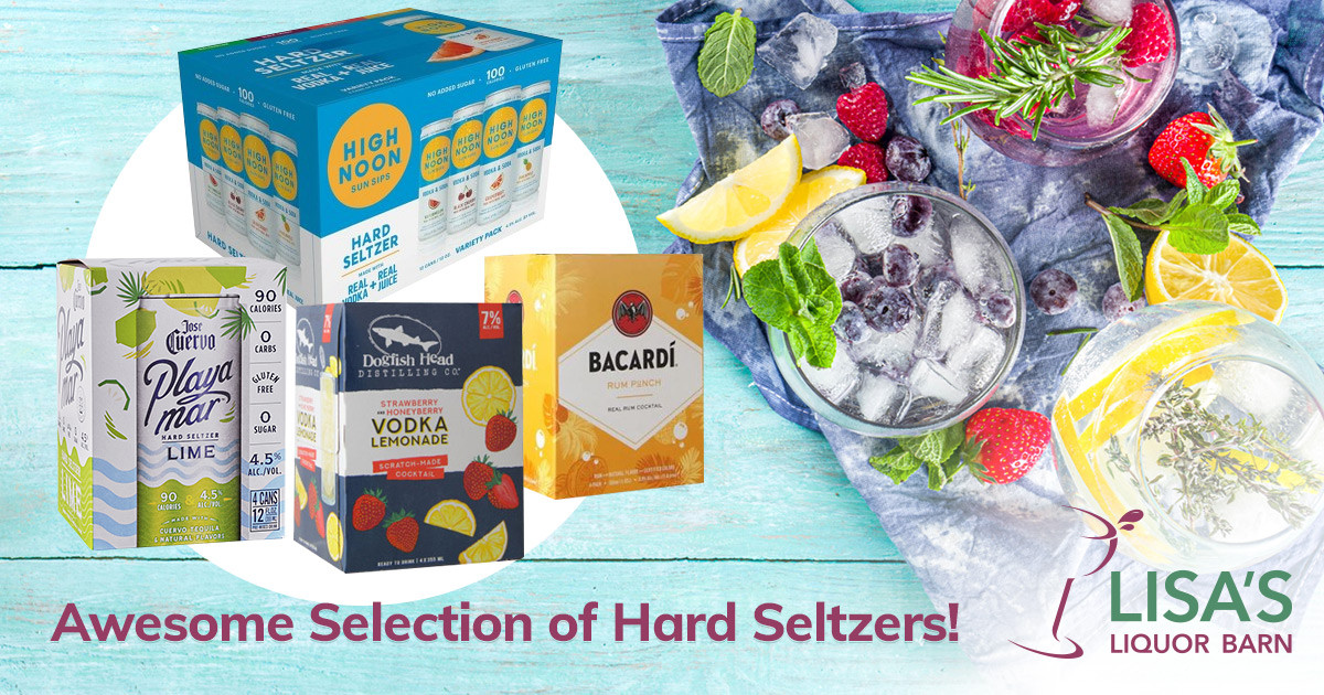 Shop Lisa's Huge Selection of Hard Seltzers and Canned Drinks