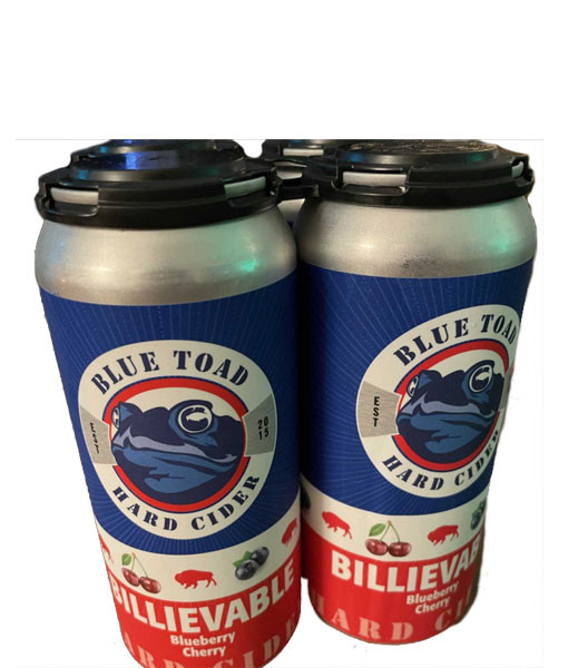 Blue Toad Billievable Blueberry/Cherry Cider 4pk - 16oz Cans
