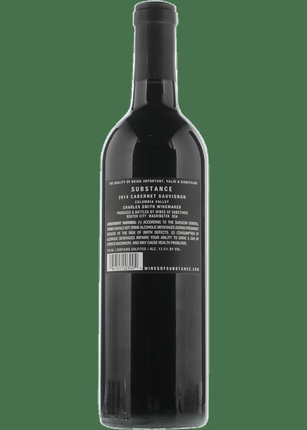 2019 Charles Smith Substance Cabernet Sauvignon 750ml