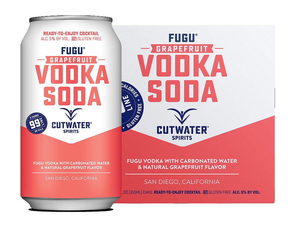 Cutwater Grapefruit Vodka Soda 4Pk 355ml Cans