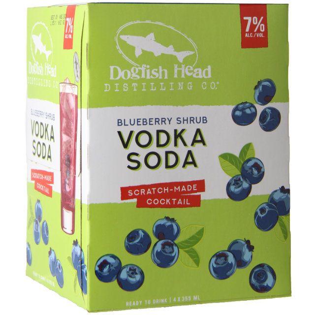 Dogfish Head Blueberry Shrub Vodka Soda 4Pk-355ml Cans