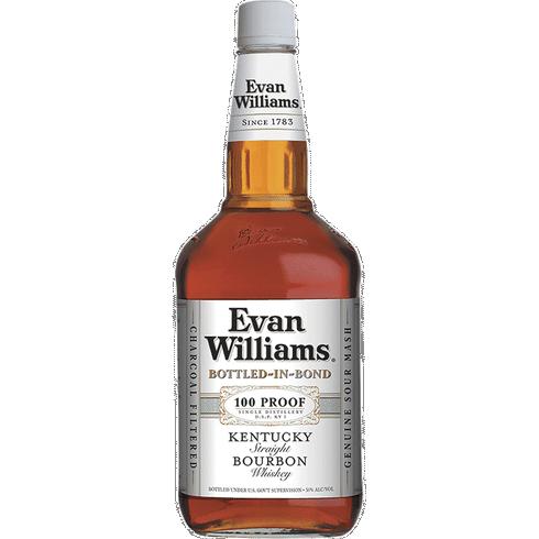 Evan Williams White Label 100 Proof Bottled In Bond Bourbon 1.75L