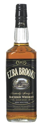 Ezra Brooks 90 Proof Bourbon Black Label 1L