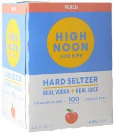 High Noon Sun Sips Peach Vodka & Soda 4Pk 355ml Cans