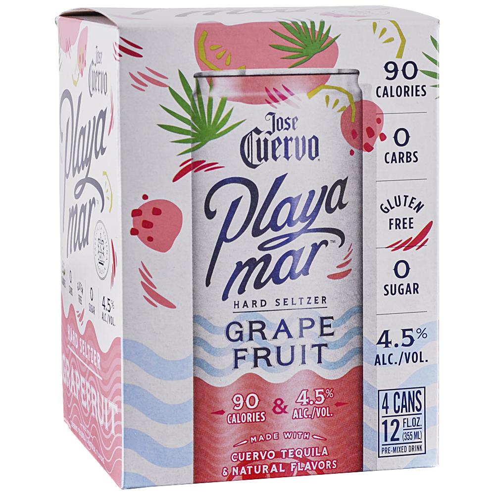 Jose Cuervo Playa Mar Grapefruit Seltzer 4Pk - 12oz Cans