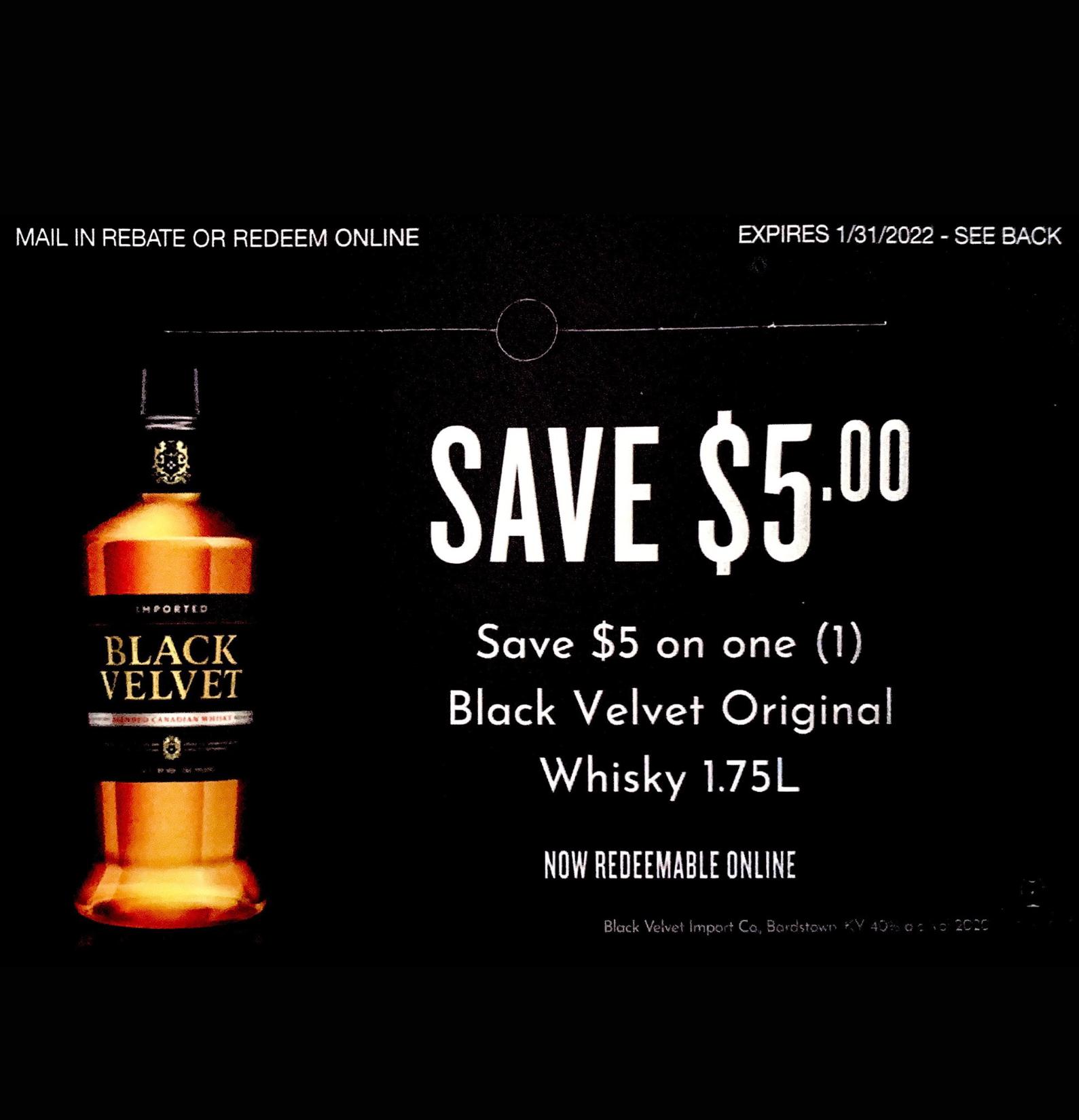 Black Velvet Original Whisky 1.75L