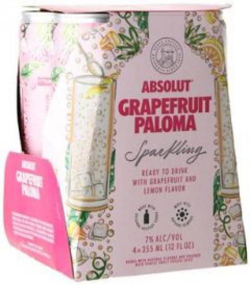 Absolut Sparkling Grapefruit Paloma 4pk 355ml Cans