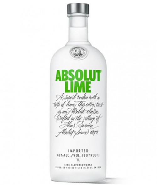 Absolut Lime Vodka 1L