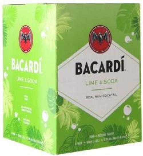 Bacardi Lime & Soda 4pK - 355ml Cans