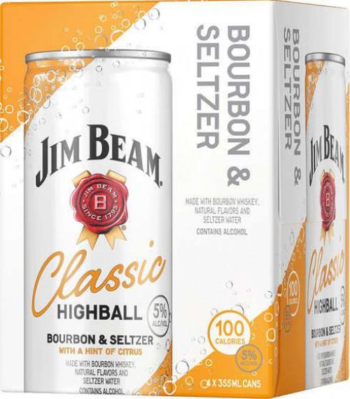 Jim Beam Highball Bourbon & Seltzer 4Pk - 355ml Cans