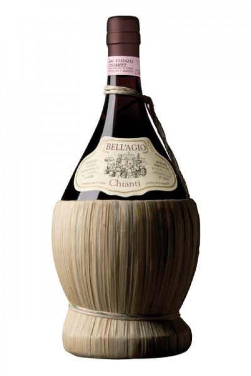 Bell'agio Chianti Straw Basket 750ml