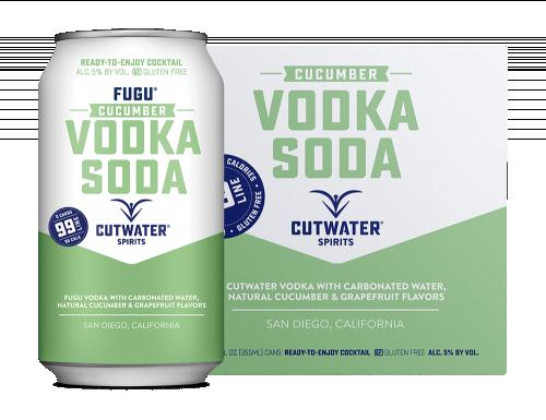 Cutwater Cucumber Vodka Soda 4pk 355ml Cans