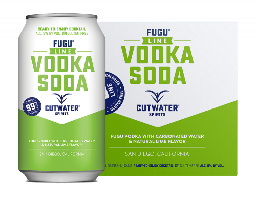 Cutwater Lime Vodka Soda 4Pk 355ml Cans